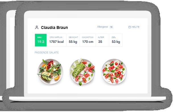 Diet Planner - Programm für Ernährungswissenschaftler zur Erstellung von Speise- und Diätplänen.